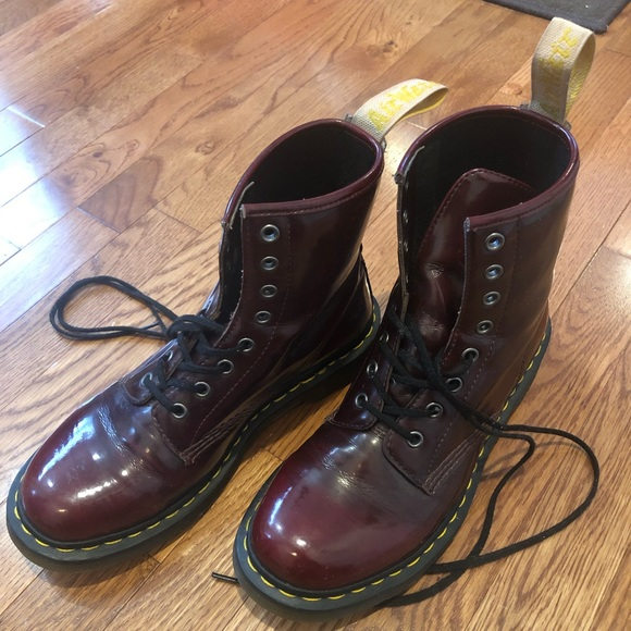 f06ad69f79ef Dr. Martens Shoes - Dr. Martens 1460 vegan cherry red boot
